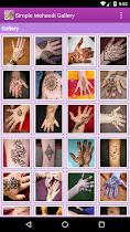Simple Mehandi Designs Gallery - screenshot thumbnail 02