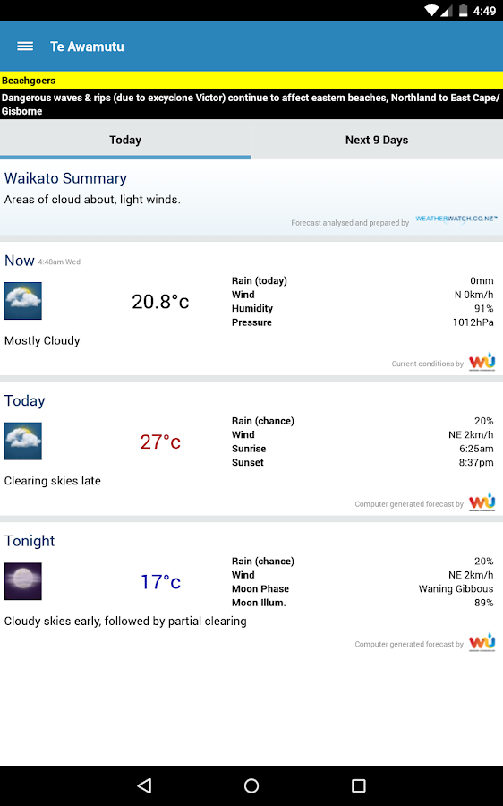 WeatherWatch- screenshot