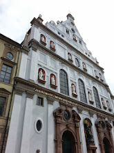 Photo: St Michaels church: Inspired by Rome's Gesu church, it was built in the 1500s for Bavaria's Jesuits and has a has statue of Michael fighting a Protestant dragon (Jesuit priests would hammer away at Protestant heresy from the pulpit). King Ludwig II, the 'mad king,' is buried here.