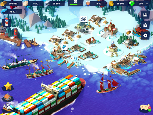Sea Port: Build Town & Ship Cargo in Strategy Sim screenshots 9