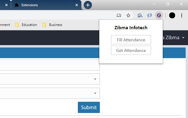 Zibma Infotech (Attendance)