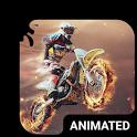 Motocross Animated Keyboard + Live Wallpaper icon