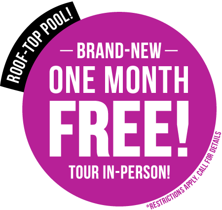 Brand New + One Month Free! + Roof-Top Pool