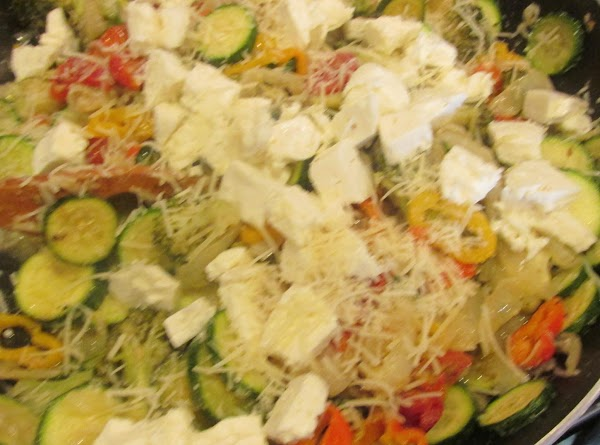 Add left over veggies from previous day if you have them. Stir to mix...