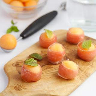 Prosciutto Wrapped Melon Balls