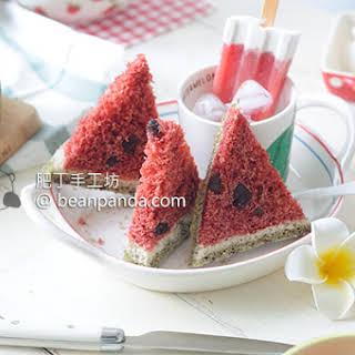 No Knead Watermelon Bread Square Watermelon Bread ~ 60 Minutes Tangzhong Method ( Diary & Egg Free ).