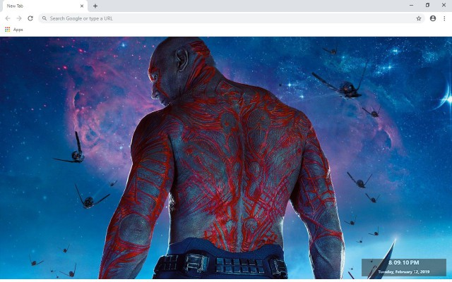 Drax the destroyer New Tab Theme