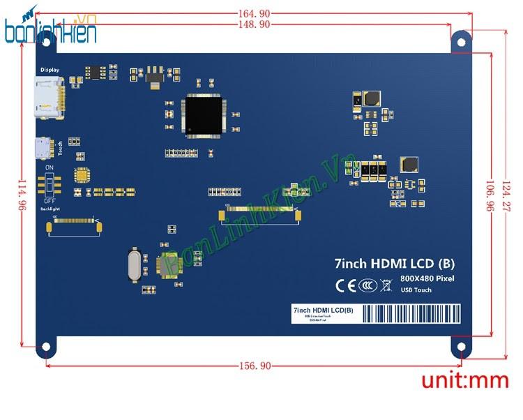 Màn hình Raspberry 7 Inch Touch