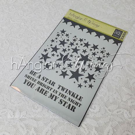 hÄnglar & Wings Stencil - Stjärnor