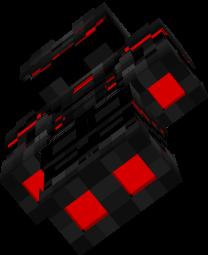 chevalier noir et rouge