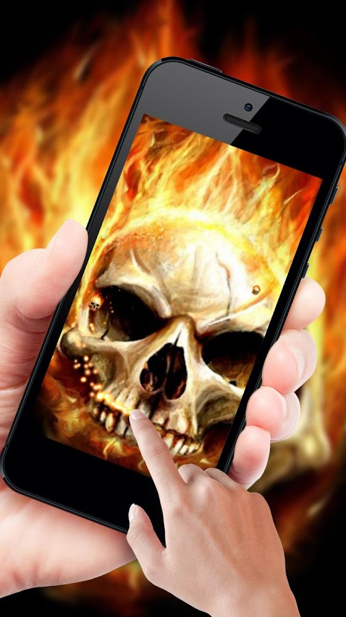 Fire skulls live wallpaper android apps on google play fire skulls live wallpaper screenshot voltagebd Images