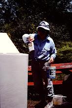 Photo: Lorraine painting storage box.
