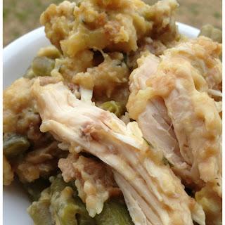 Crockpot Chicken and Stuffing.