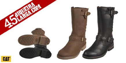 Photo: A Bota alta Caterpillar Brandy Biker Boot para senhora com alça e fecho. Com inspiração no estilo West Biker Boot fica sempre bem com jeans. Estes são botas fabulosas, realmente confortável e resistente, e a este preço são uma pechincha. http://www.45biqueiralarga.com/bota-caterpillar-brandy-biker-boot-para-senhora/