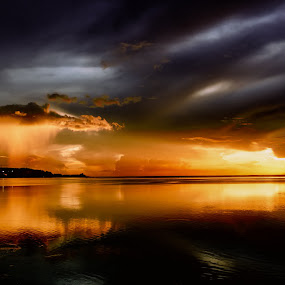 Shining On The Rain Cloud by Jun Robato - Landscapes Cloud Formations