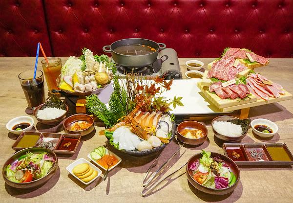 質感日系燒肉!有和牛和鍋物的雙人海陸炙燒套餐-宮鶴炙燒專門店
