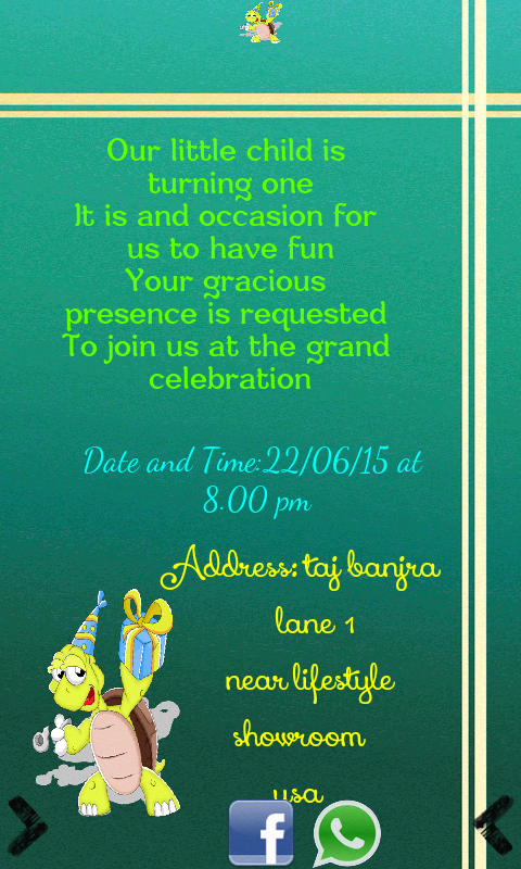 Birthday Invitation Card Maker Android Apps On Google Play - Birthday invitation letter in telugu