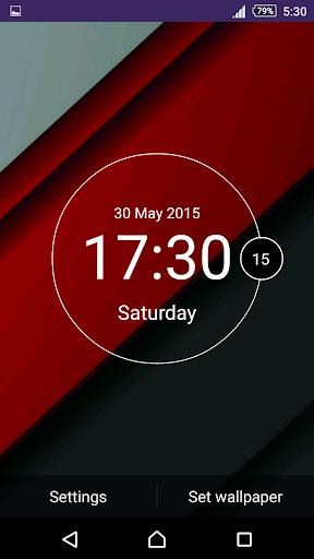 Material Minimal Clock LiveWP