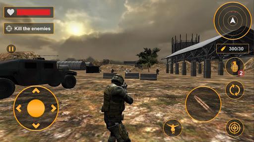 Combat militaire ru00e9el: jeux de tir gratuits hors  captures d'u00e9cran 1