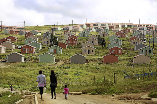 RDP houses in Mdantsane, in the Eastern Cape. Picture: DAILY DISPATCH