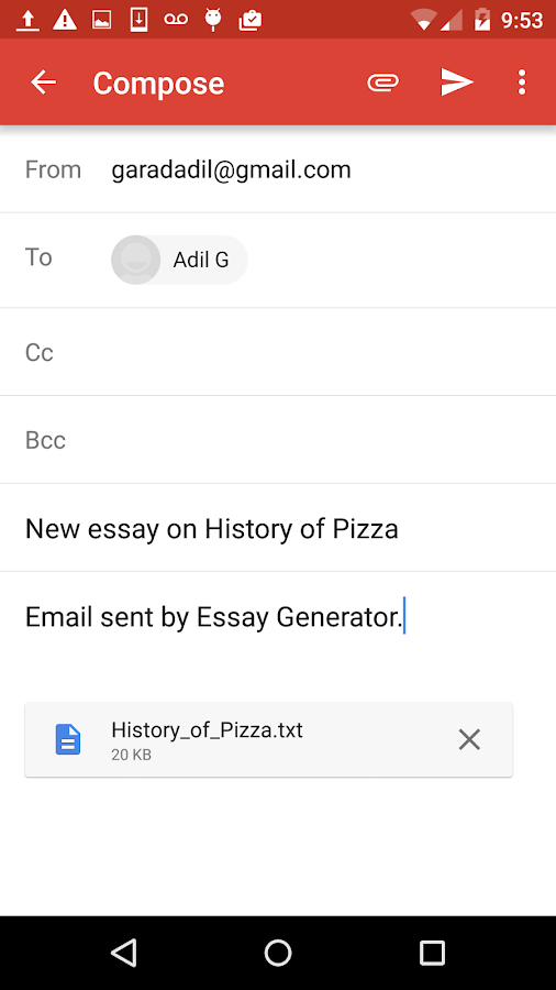 essay generator android apps on google play essay generator screenshot