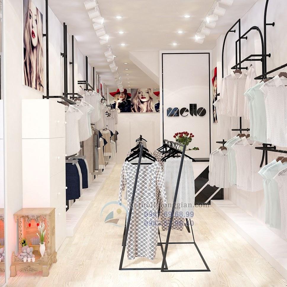 thiết kế cửa hàng thời trang công sở nữ tính