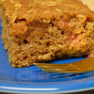 Vegan Rhubarb Apple Coffee Cake