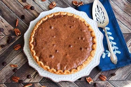 "Chocolate Brownie Pecan Pie ""A chocolate lovers delight! I make these every..."