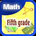 Fifth grade math icon