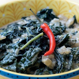 Kale Greens in Coconut Milk from 'The Adobo Road Cookbook'.