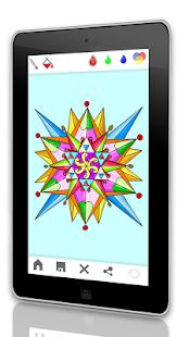 Мандала - взрослые книжка-раск Screenshot