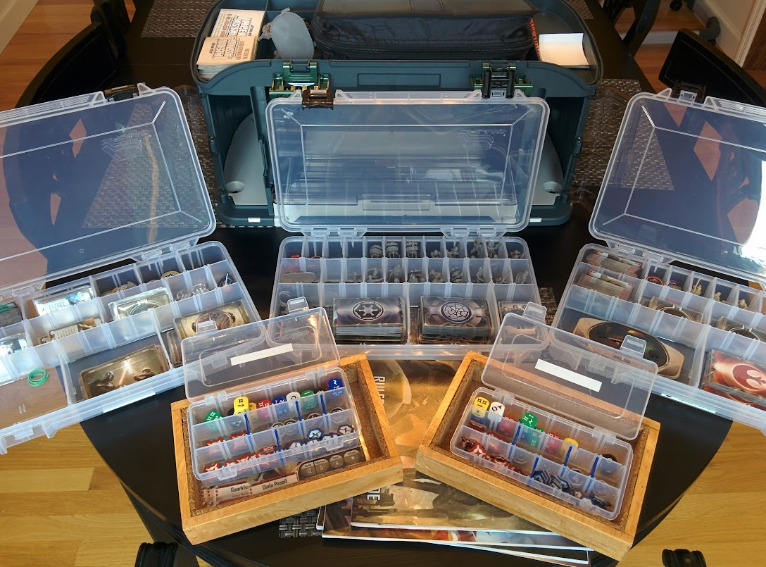 Storage solutions star wars imperial assault for Board game storage solutions