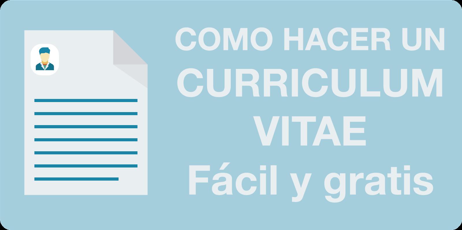 Como Hacer Curriculum Vitae Ejemplos Modelos Y Plantillas De Cv