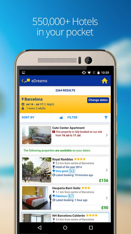 eDreams-Flights, Hotels & Cars- screenshot