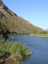 Photo: Twee kano`s op die rivier