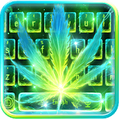 Neon Smoking Weed Keyboard Theme