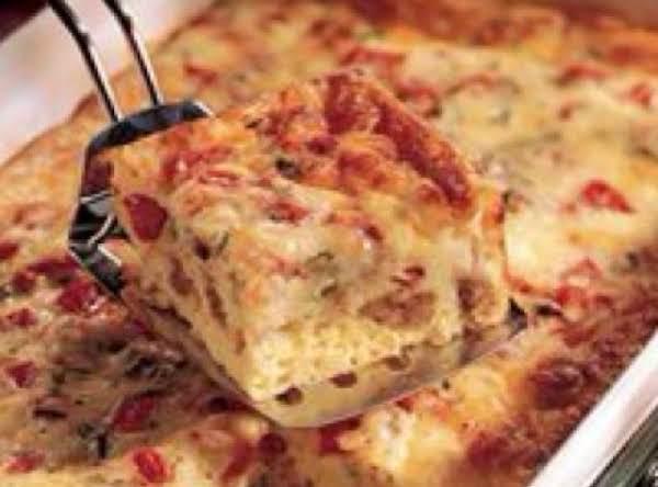 Cheesy Sausage & Egg Bake Recipe
