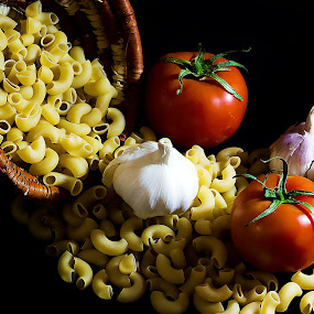 Garlic Macaroni by William Ay-Ay - Food & Drink Ingredients