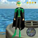 Flying Green Stickman Rope Hero Gangstar Crime icon