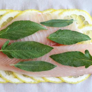 Roberta's Lemon Herb Fish (in parchment paper).