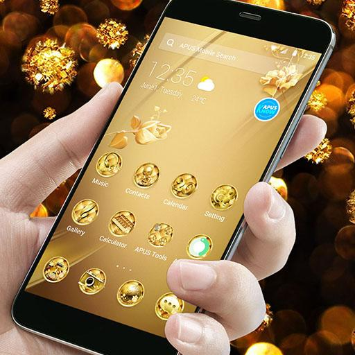 New Golden Flower Business Style APUS luxury Theme file APK for Gaming PC/PS3/PS4 Smart TV