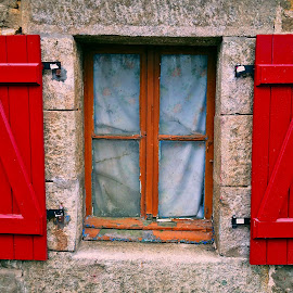 Window by Dobrin Anca - Buildings & Architecture Architectural Detail ( sky, window, street, sea, brittany,  )