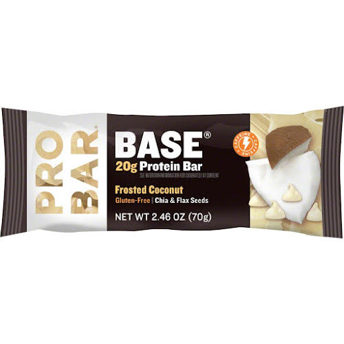 Probar Base Bar: Frosted Coconut with Caffeine, Box of 12