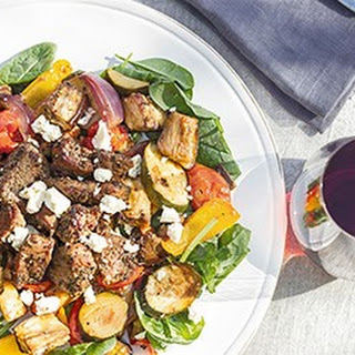 Mediterranean Roast Veges With Spiced Lamb.