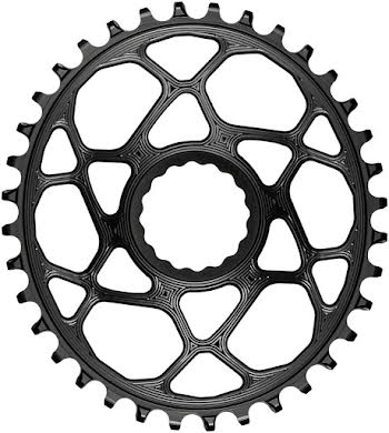 Absolute Black Oval Narrow-Wide Direct Mount Chainring - CINCH Direct Mount, 3mm Offset alternate image 0