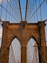 Photo: Following up on my last posting, here is a more 'traditional' shot of the Brooklyn Bridge. Shot the same time as the other one, on a warm summer night a couple years ago.
