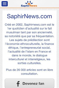 Saphirnews.com- screenshot thumbnail