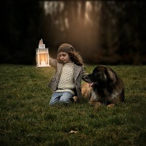 Still by Una Williams Photos - Babies & Children Children Candids ( child, lantern, girl, ireland, dog )