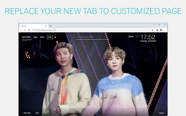BTS RM & Suga Wallpapers Custom NamGi New Tab