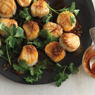 Scallops with Spice Oil.